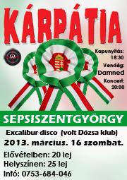 Formația rock Karpatia va cânta la Sfântu Gheorghe moartea României.