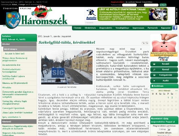 Mozes Laszlo Haromszek insultă Mihai Viteazul