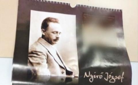 Calendarul editat pe bani publici promovează imeginea scriitorului fascist, antisemit și antiromân (FOTO: antena3.ro)