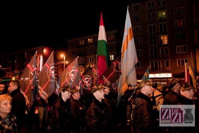 Garda maghiara fascista la Tg Mures