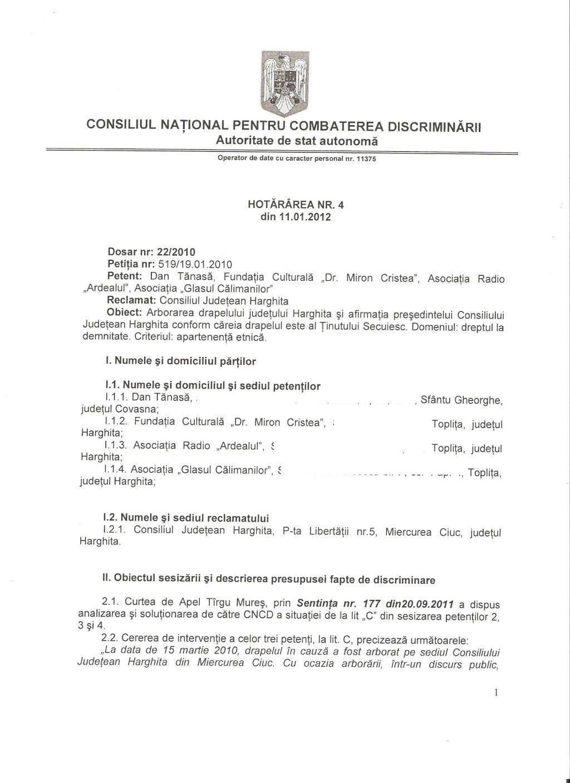 CNCD steag secuiesc Harghita 1