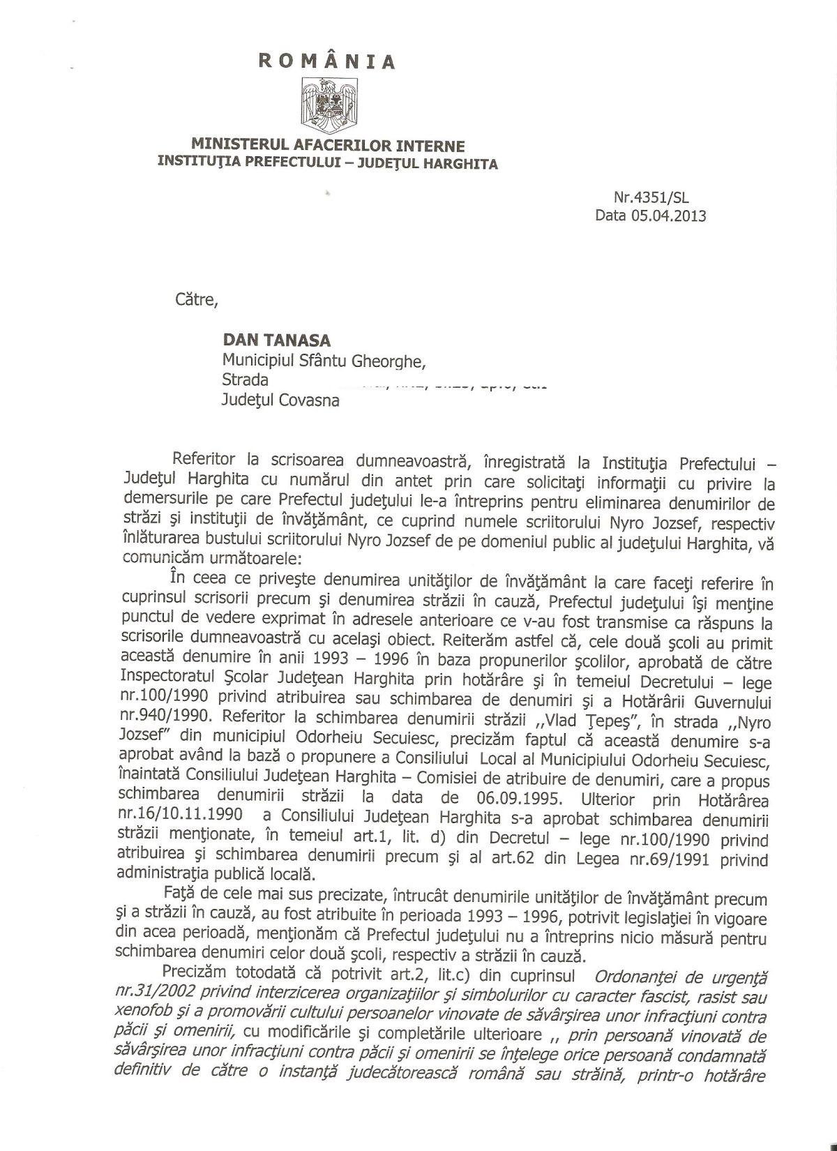 Prefect Harghita Jean-Adrian Andrei Nyiro Jozsef 1