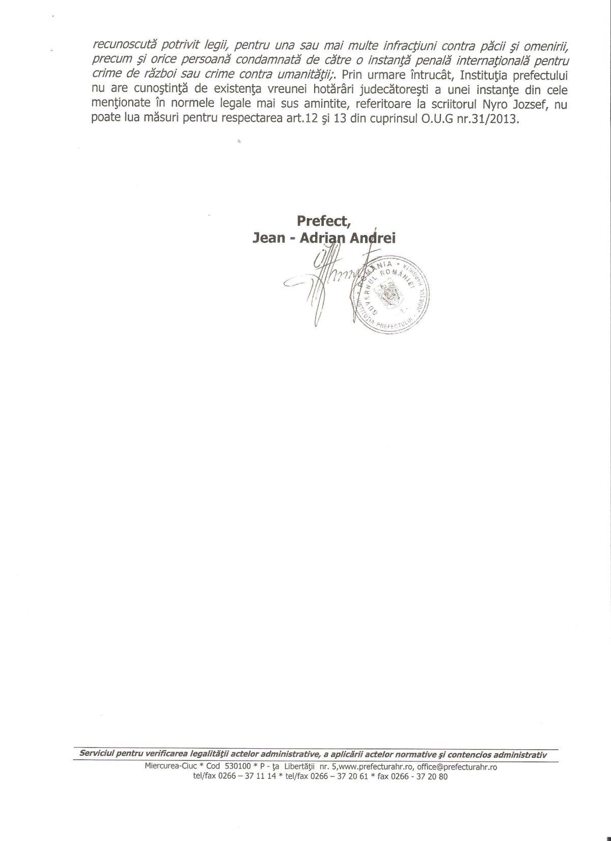 Prefect Harghita Jean-Adrian Andrei Nyiro Jozsef 2