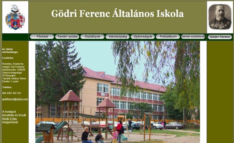 "Pagina de internet a Scolii Gimnaziale ""Godri Ferenc"" din Sfântu Gheorghe era redactată exclusiv în limba maghiară"