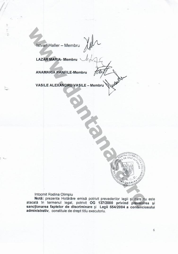 Proces Guvernul Victor Ponta ANFP CNCD Forumul Civic al Romanilor din Covasna Harghita Mures 11