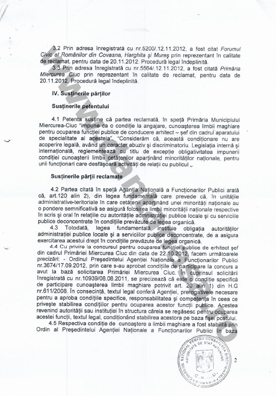 Proces Guvernul Victor Ponta ANFP CNCD Forumul Civic al Romanilor din Covasna Harghita Mures 7