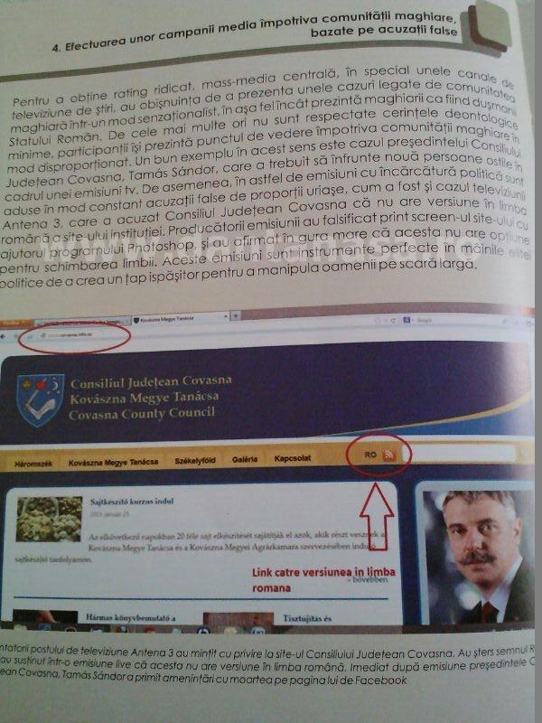 Raport UDMR discriminare Antena 3 Sabina Elena limba maghiara 2