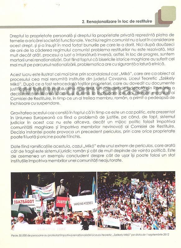 Raport UDMR discriminare Antena 3 Sabina Elena limba maghiara cazul Miko