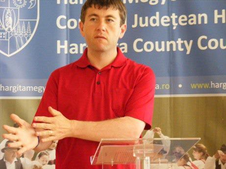 Președintele CJ Harghita, UDMR-istul Borboly Csaba, un promotor al șovinismului și iredentismului maghiar (FOTO: informatiahr.ro)