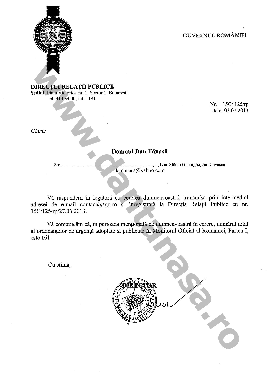 Ordonante urgenta guvern Victor Ponta mai 2012 iunie 2013 dantanasa ro