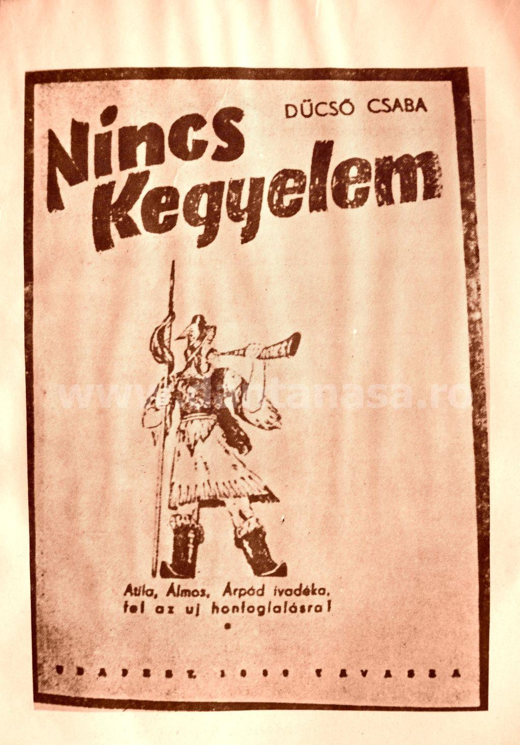 """""""Nici o milă"""" - carte aparută la Budapesta și pe care honvezii ocupanți ai Transilvaniei au tradus-o în faptă"""