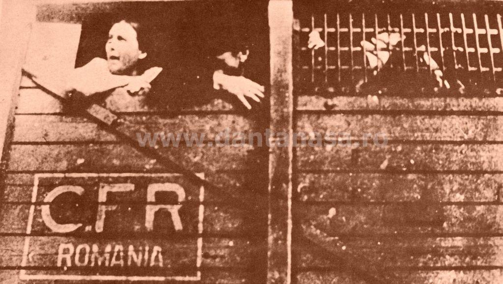 Septembrie 1940. Români din Transilvania ocupată, epulzați din țara lor în vagoane de vite.