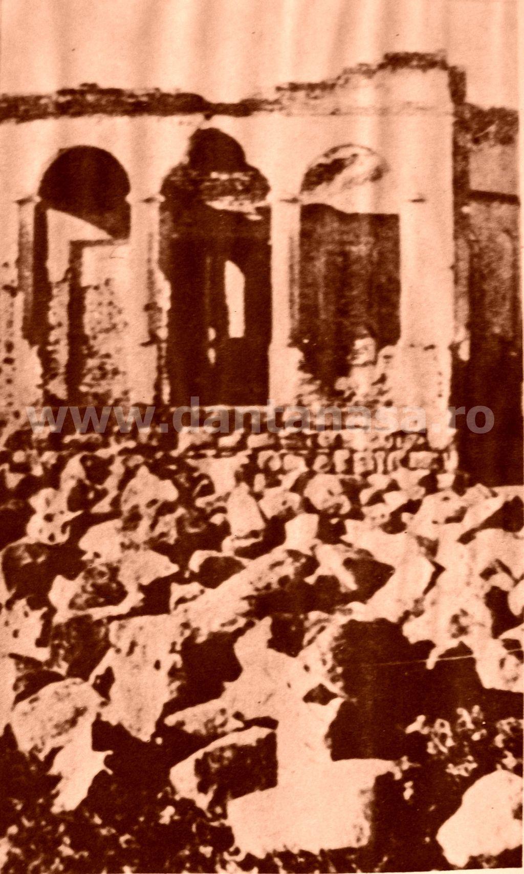 Doboșeni (azi în jud. Covasna), decembrie 1940. Biserica românească distrusă de unguri