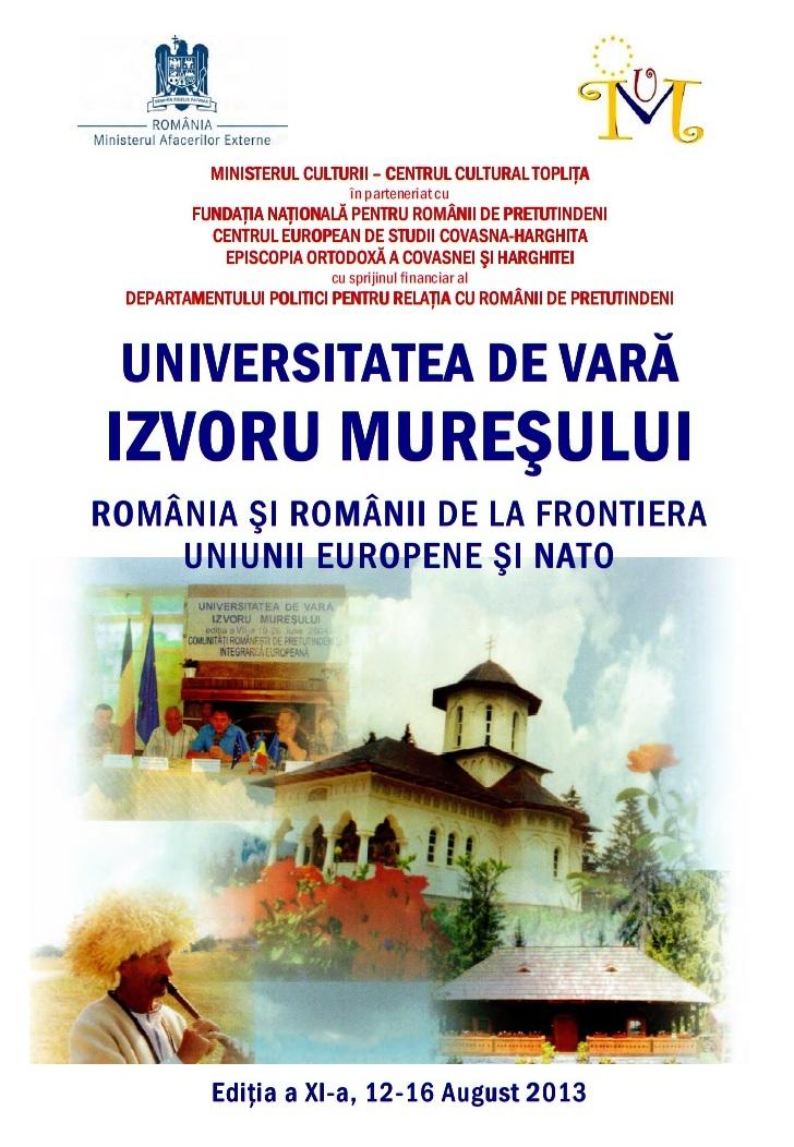 Universitatea de Vară Izvorul Mureșului Ediția a XI a 2013