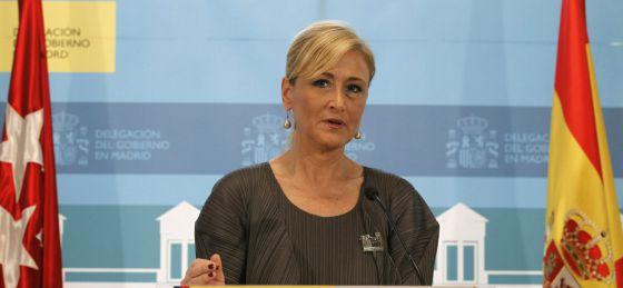 Cristina Cifuentes, Delegada del Gobierno en Madrid (FOTO: elpais.com)