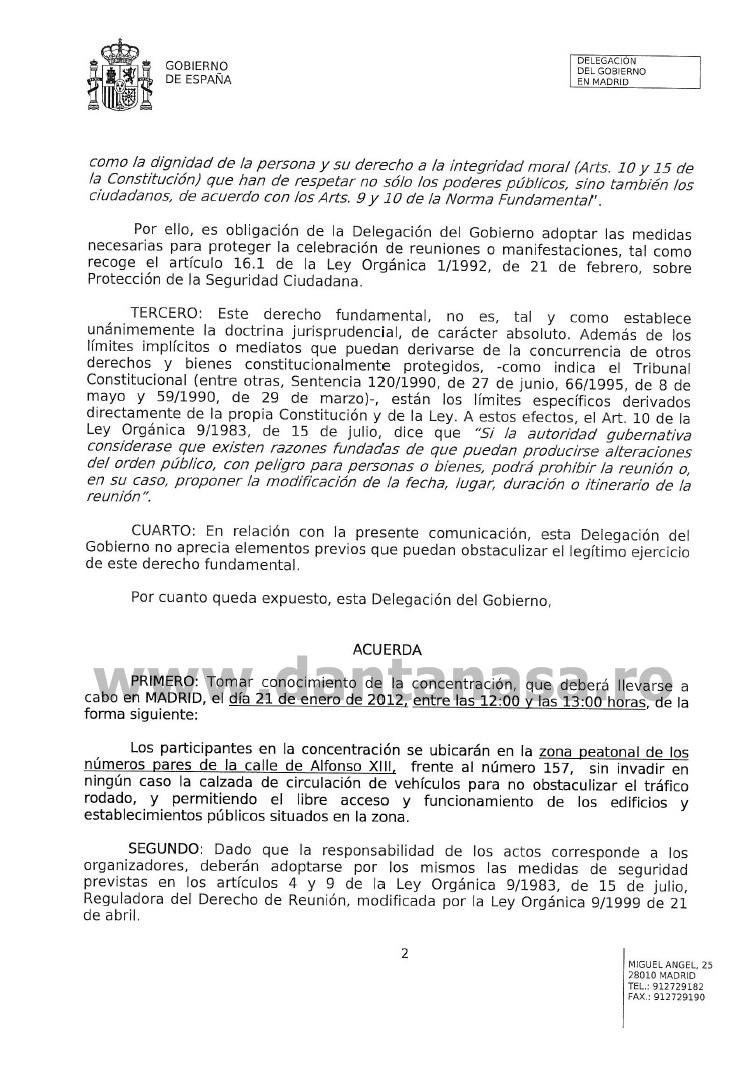 Gobierno Espana protestas Madrid PSD 1