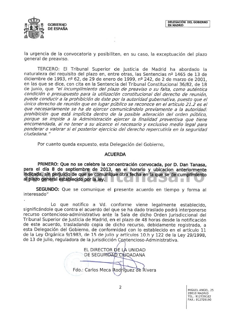 Gobierno Espana protestas Rosia Montana Madrid 1