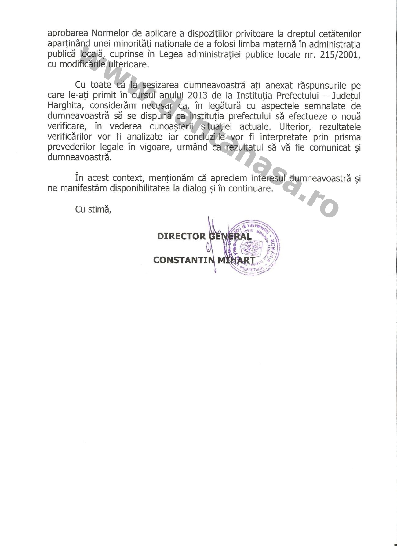 Ministerul Afacerilor Interne Constantin Mihart Nyiro Jozsef Wass Albert Dan Tanasa 2