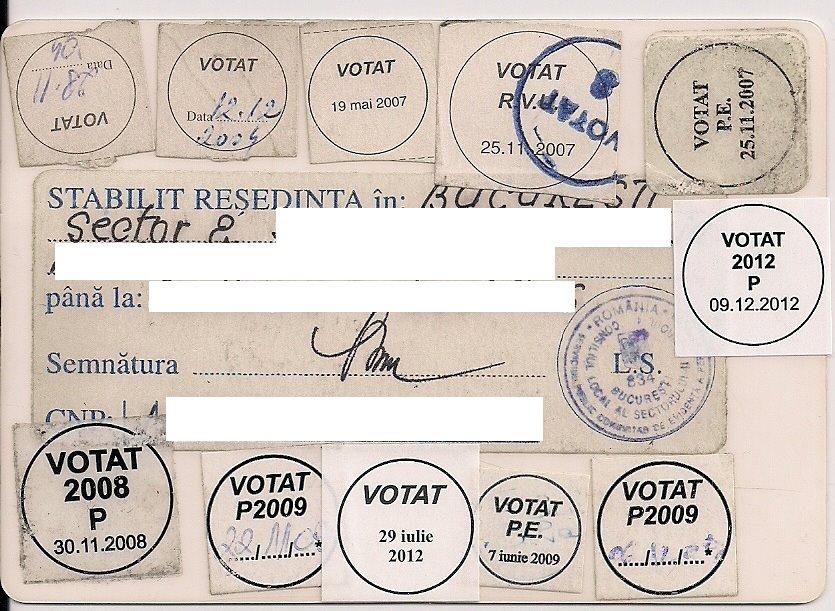 buletin identitate vot dan tanasa