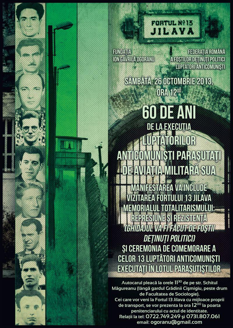 60 DE ANI DE LA EXECUTIA LUPTATORILOR ANTICOMUNISTI PARASUTATI DE AVIATIA MILITARA SUA 1953 2013