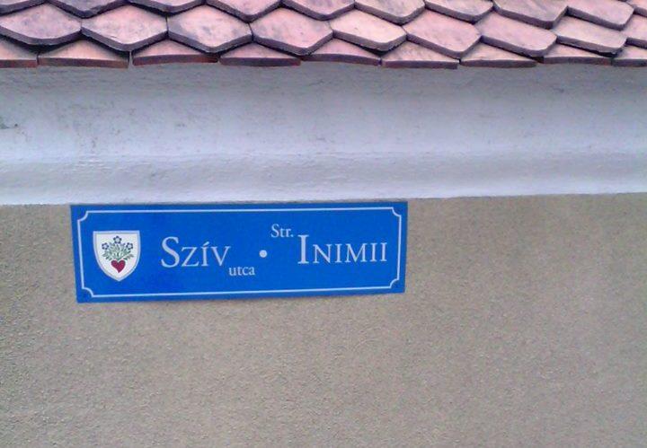 placuta denumire strada miercurea ciuc limba maghiara ilegal