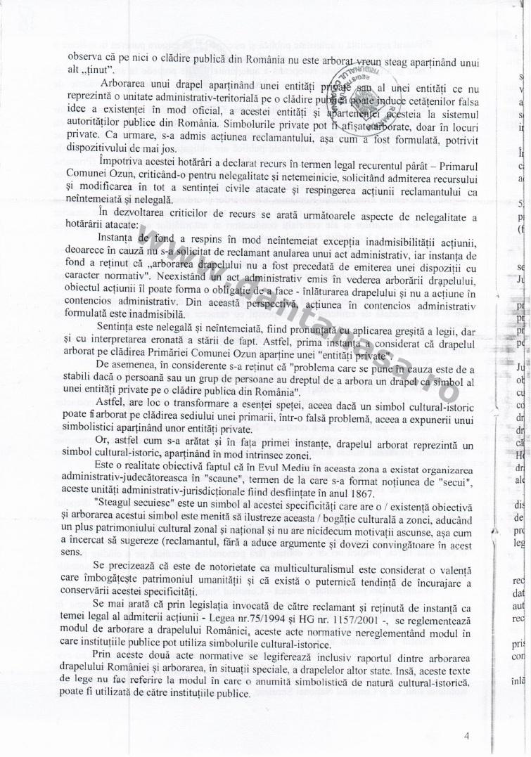 Prefect Covasna Dan Tanasa sentinta Curtea de Apel Brasov steag secuiesc primarie ozun 4