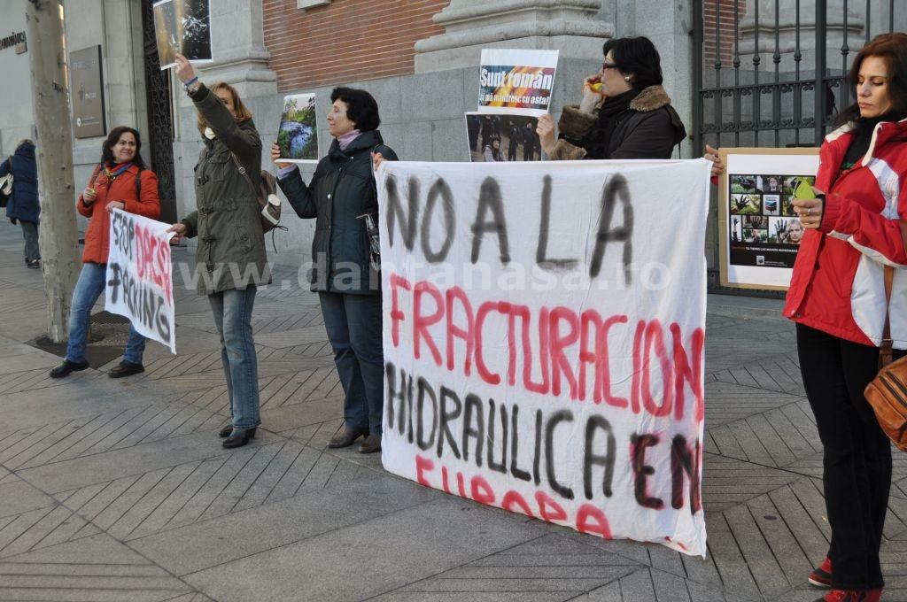 Protest Ambasada SUA Madrid solidaritate Pungesti go home Chevron 29 decembrie 2013 3