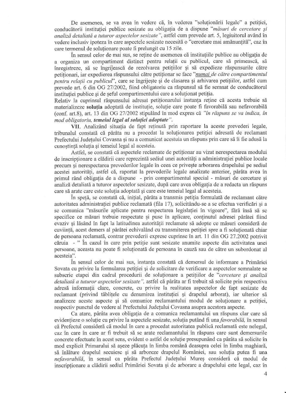 Tribunal Covasna Prefect Mures Corneliu Grosu obligat raspuns petitie Dan Tanasa 3