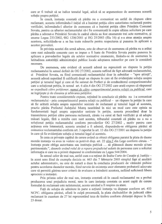 Tribunal Covasna Prefect Mures Corneliu Grosu obligat raspuns petitie Dan Tanasa 4