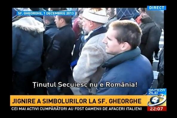 contramanifestatie ziua nationala 2013 sfantu gheorghe extremisti maghiari