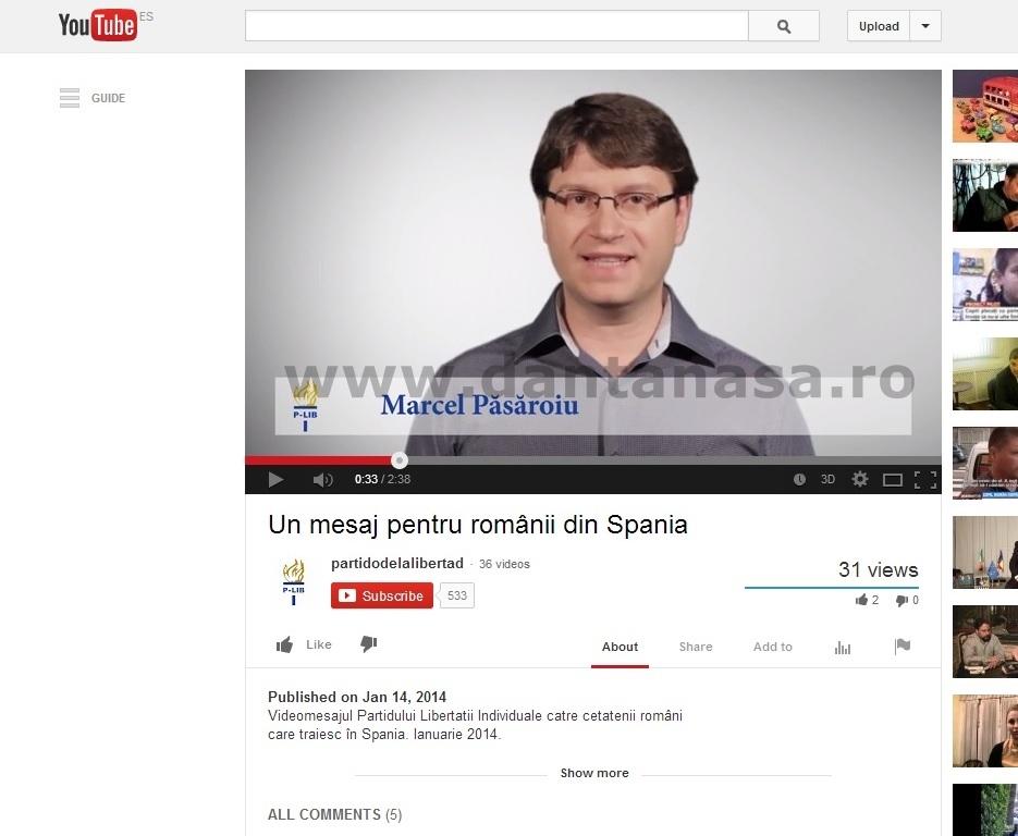 Marcel Pasaroiu Partido de la Libertad Individual Salvemos Rosia Montana Madrid