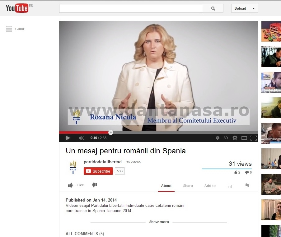 Roxana Nicula Partido de la Libertad Individual Salvemos Rosia Montana Madrid