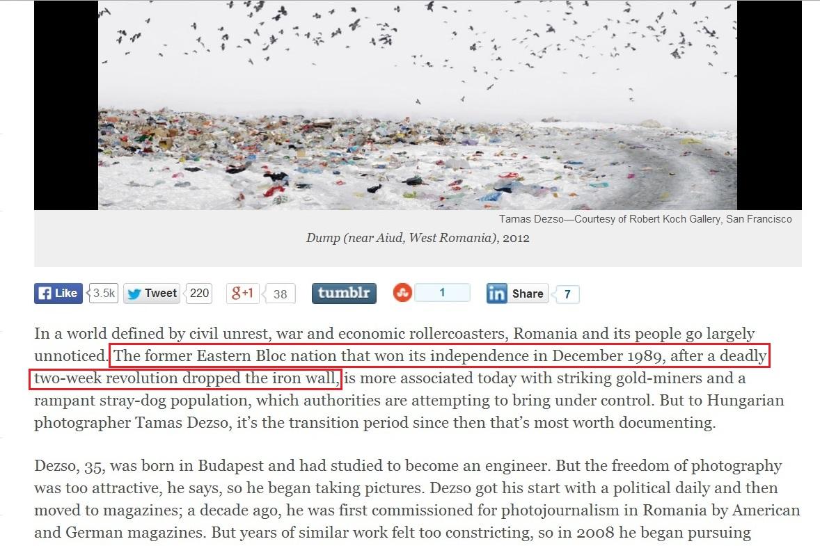 TIME magazine Romania Tamas Dezso independence Andrew Katz