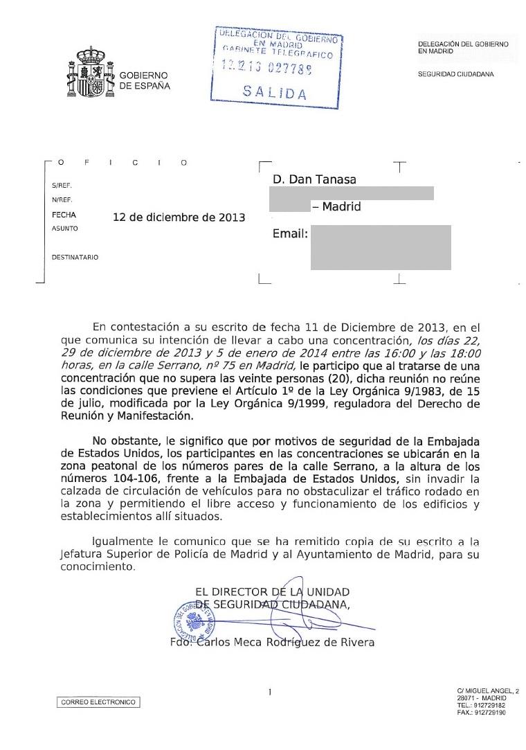 protesta Embajada EEUU Madrid Chevron