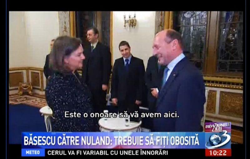 Victoria Nuland, adjuncta secretarului de stat John Kerry, se întâlnește la București cu Președintele Traian Băsescu