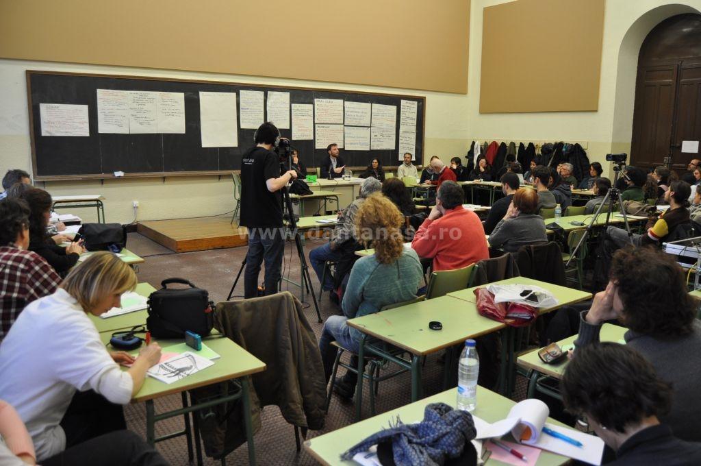 15 februarie, Madrid. Dezbateri în timpul conferinței despre Parteneriatul Transatlantic pentru Comert si Investitii. (FOTO: Dan Tanasă)