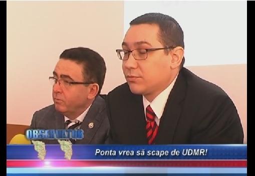 Ponta vrea sa scape de UDMR