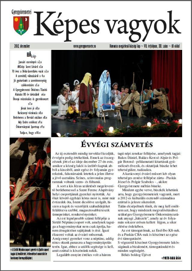 Ziarul editat de Primăria Remetea exclusiv în limba maghiară