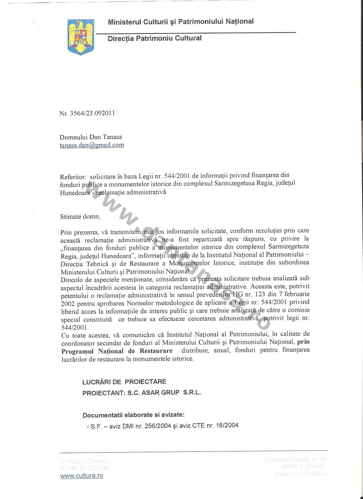 Kelemen Hunor fonduri Sarmizegetura Regia 1