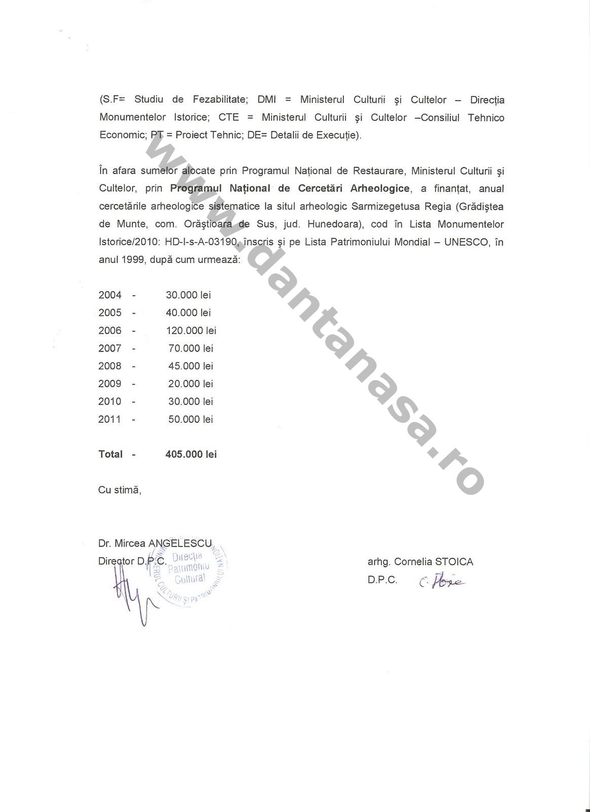 Kelemen Hunor fonduri Sarmizegetura Regia 3