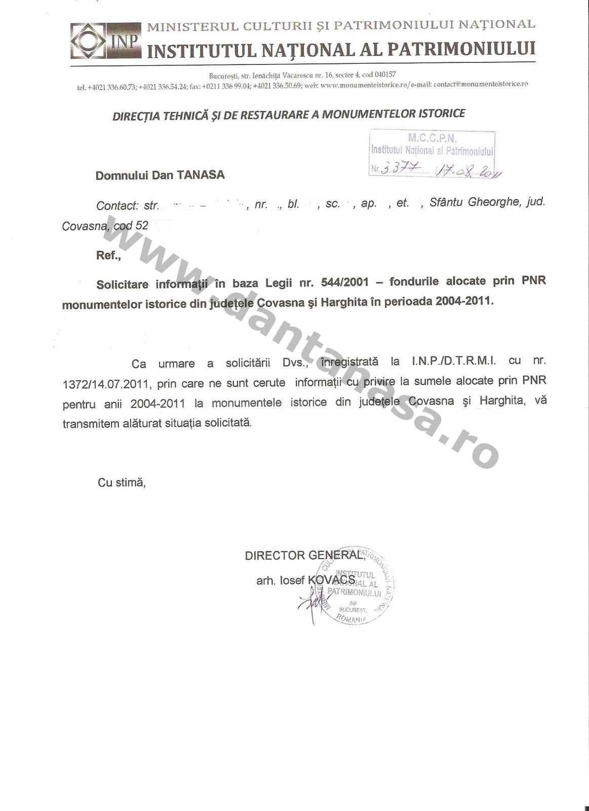 Ministerul Culturii UDMR Kelemen Hunor Dan Tanasa fonduri monumente Covasna Harghita