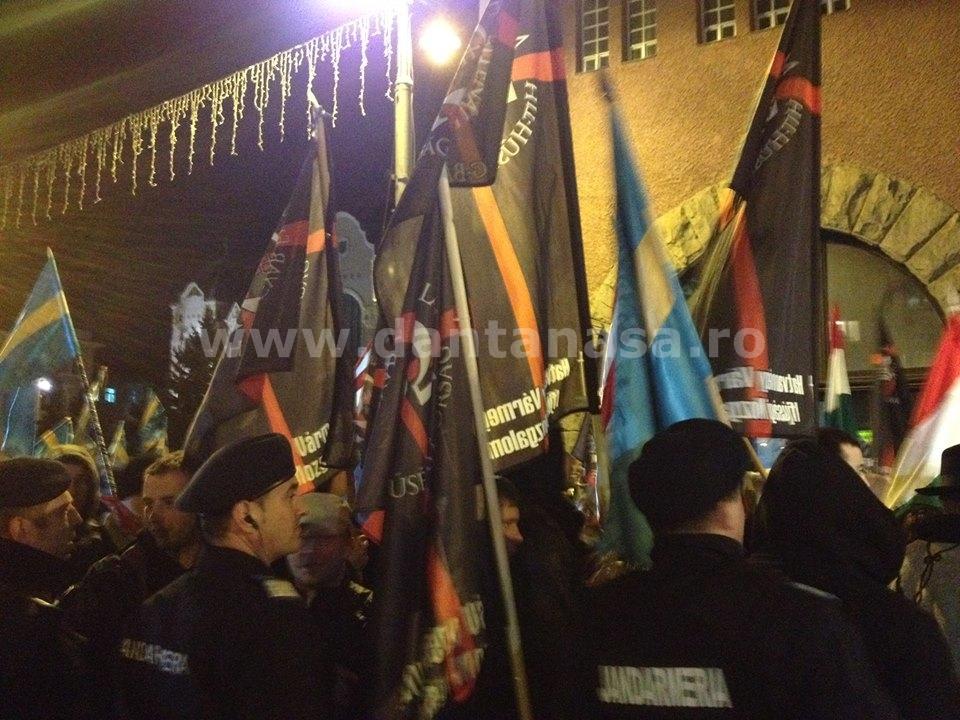 miting 10 martie 2014 Targu Mures neo fascisti Ungaria extremisti maghiari