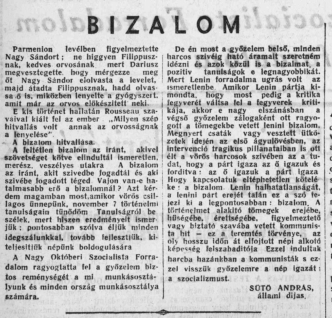 0 Bizalom - Incredere editorial Andras Suto