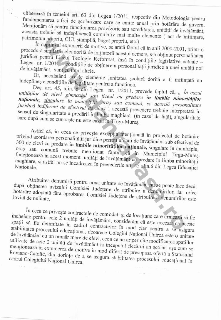 Directia Scoli Primaria Tg Mures infiintare Rakoczi 2