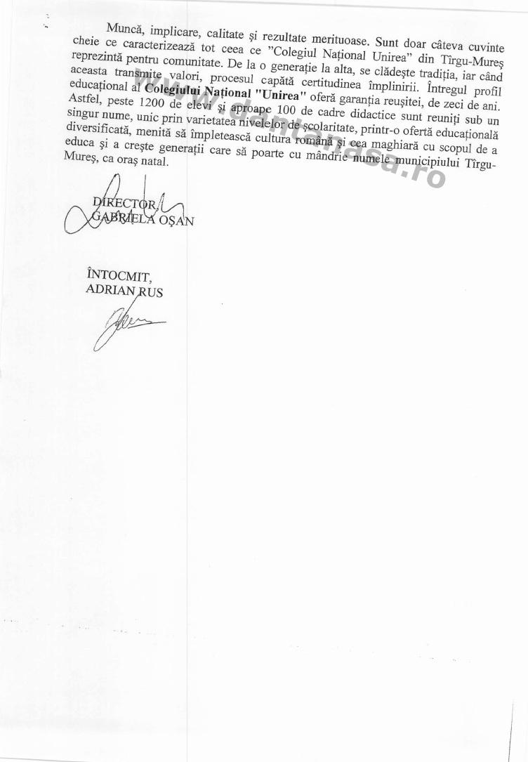 Directia Scoli Primaria Tg Mures infiintare Rakoczi 3
