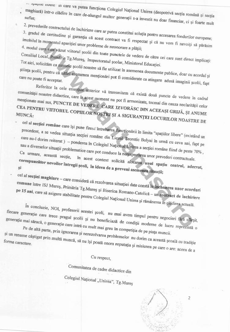 adresa profesori colegiu national unirea tg mures 1