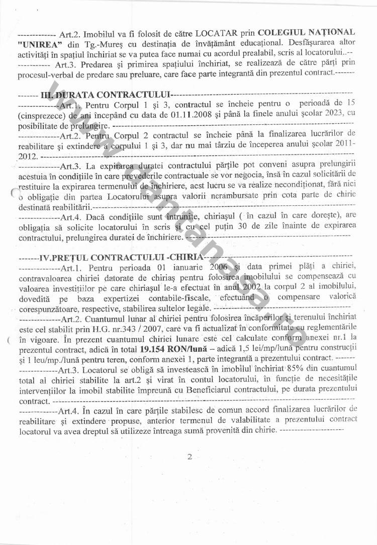 contract inchiriere cladire colegiu national unirea 2008 1