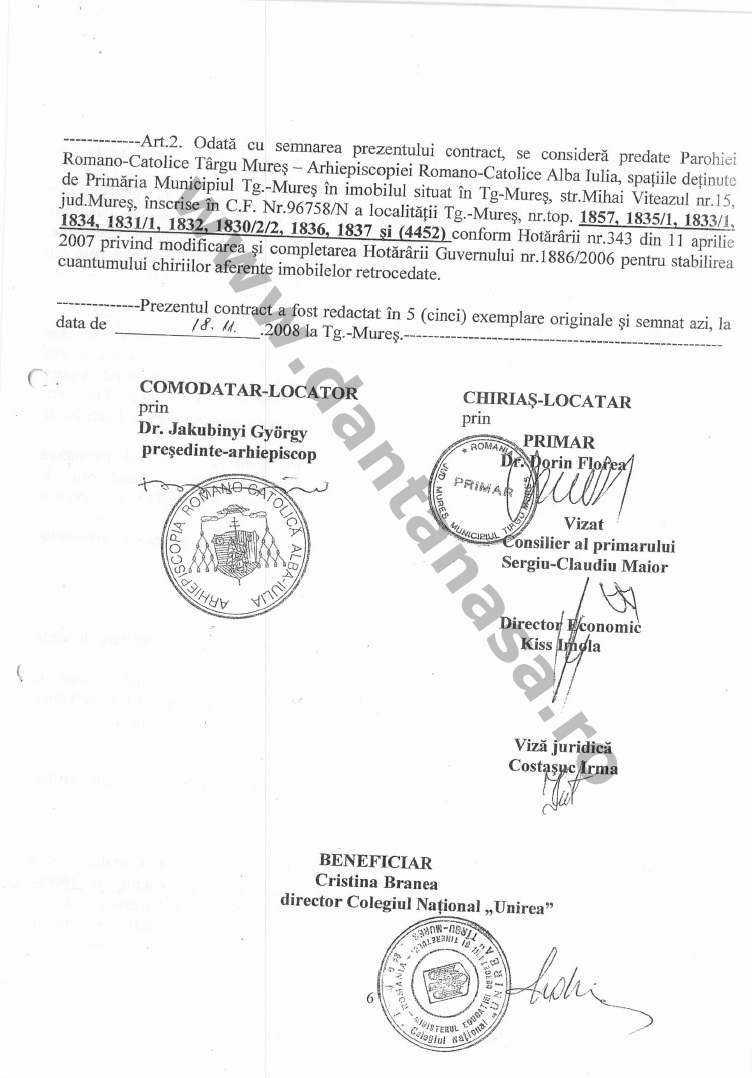 contract inchiriere cladire colegiu national unirea 2008 5