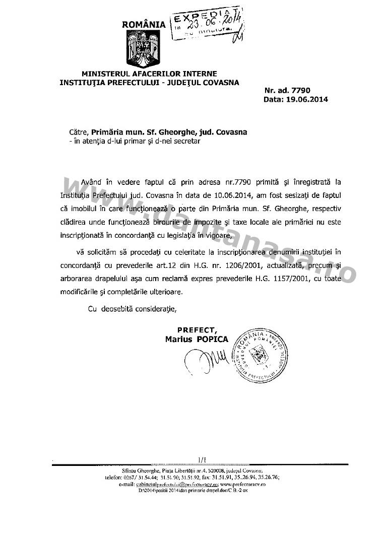 prefectura covasna primar sfantu gheorghe antal arpad drapel romania sediu taxe locale