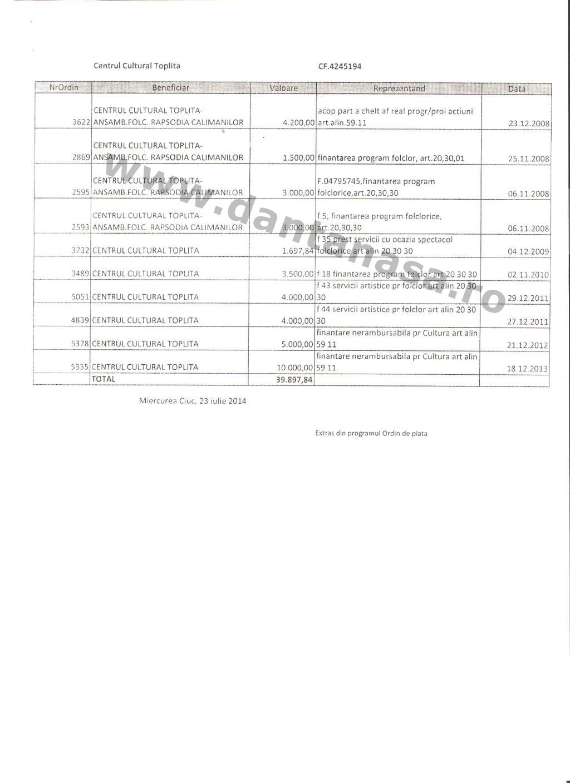 Adresa CJ Harghita Dan Tanasa fonduri Centrul Cultural Toplita 2008 2014 3